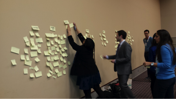 It was exciting to see this dynamic group brainstorm ideas that will potentially help all of us achieve our career goals. Importantly, all of the Post-It notes will be saved, and the ideas will be used to guide the initiatives of COMPASS for the next year.