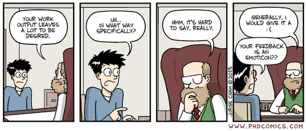 """""""Piled Higher and Deeper"""" by Jorge Cham www.phdcomics.com http://www.phdcomics.com/comics.php?f=1781 Reprinted with permission"""