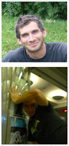 "Figure 4: Top: Francois Joseph Lapointe, dual Ph.D. in Biology and Dance, bottom: Dr. Lapointe choreographing ""Polymorphosum urbanum"" (Images used with permission)"