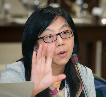 Yixian Zheng at the 2013 ASCB Annual Meeting. Photo by Kathy Anderson.
