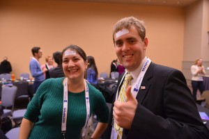 Students and postdocs enjoyed the icebreaker activity at the 2014 COMPASS Open Forum. Photo by James McWilliams