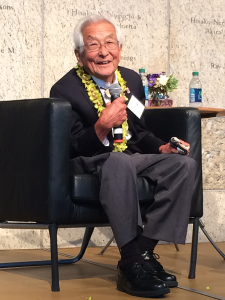Susumu Ito last July at the Japanese American National Museum in Los Angeles for the opening of the exhibit of his WWII photos. Courtesy of the Japanese American National Museum