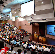 If you're aiming for academia, preparing for large lectures could be in your future. Photo by teddy-rised.