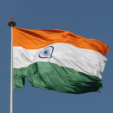 Flag of India. Photo by Yann Forget.