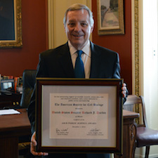 Music to his ears: The ASCB Public Service Award acknowledges Senator Durbin's key role in reviving federal support for biomedical research.