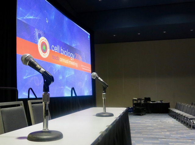 All set for ASCB 2016: Symposium room at SF convention center awaits some sizzling science. ASCB photo by John Fleischman