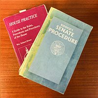 Senate Procedure and House Practice serve as the guides for how Congress should work.