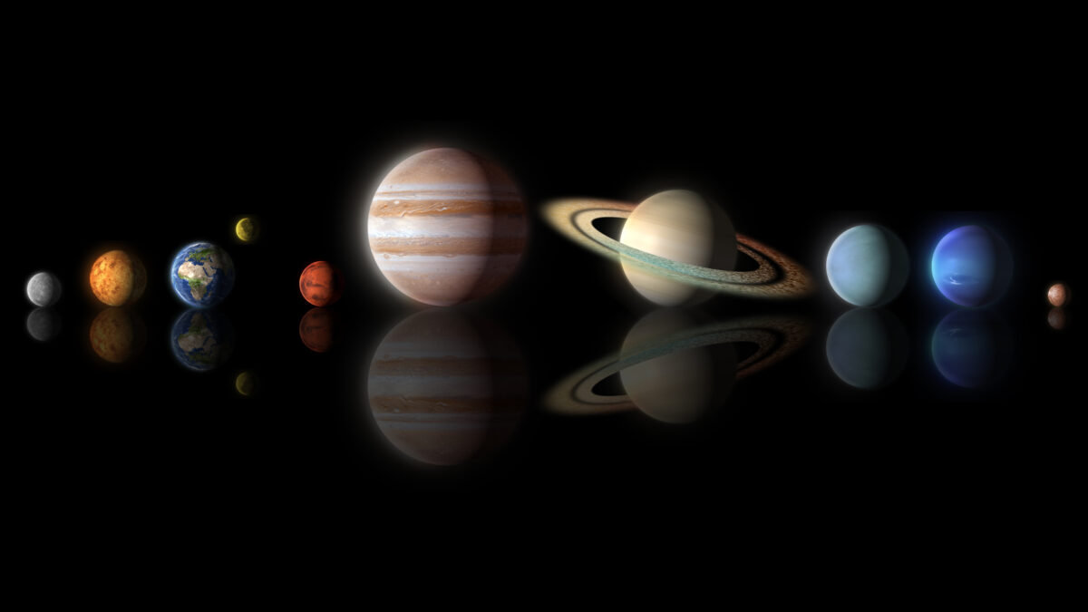 Planets,Of,The,Solar,System,Isolated,On,Black,(elements,Of